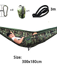 SWIFT Outdoor® Double Person 300x180cm Camping Hammock Camouflage Army Lightweight Parachute Nylon Tear Resistance