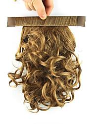 Länge reel blonde Perücke 28cm synthetische lockige Hochtemperatur-Draht Vertrags flauschigen Pferdeschwanz Farbe 2005