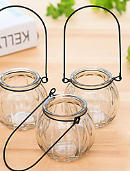 1 PCS Table Centerpieces Round Clear Glass Vase Centerpiece Table Deocrations