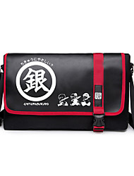 Bag Inspired by Gintama Gintoki Sakata Anime Cosplay Accessories Bag Black Canvas Male / Female