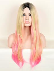 la mode des perruques multicolores perruques synthétiques droites de qualité supérieure