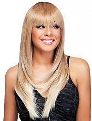 Ombre Wig Straight Fashion Wig Long Blonde With Dark Root TOP Quality Hair Wigs