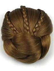 Kinky кудрявый коричневого европы невесты человеческих волос монолитным парики шиньоны dh104 2005