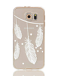 Para Samsung Galaxy S7 Edge Transparente / Estampada Capinha Capa Traseira Capinha Pena Macia TPU S7 edge / S7 / S6 edge / S6