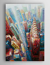 Hand Painted Oil Painting Landscape City Building with Stretched Frame 7 Wall Arts®