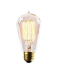 E27 AC220-240V 40W ST58Z Incandescent Light Bulbs Lighting Antique Edison Halogen Bulbs