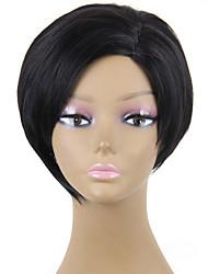 жаростойкие дешевые поддельные волосы парик короткие черные синтетические парики для женщин
