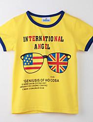 Mädchen T-Shirt Punkte Baumwolle Sommer Gelb