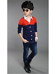 Boy's Cotton Sweater & Cardigan,Spring / Fall Patchwork