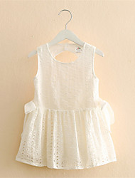 2016 Summer New Arrival Girl Cotton Lace Dress Kids Children Clothes White Lace Princess Korean Cute Dress