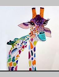 grande pintura a óleo moderna da lona floret veados mão animais pintados com moldura abstracta esticado pronto para pendurar