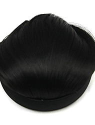 Wig Black 8CM High-Temperature Wire Oblique Bangs Colour 2