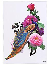 8PCS Oriental Traditional Women Men Temporary Body Arm Sleeve Art Tatoo Phoenix Tattoo Sticker Design Beauty Sexy Makeup