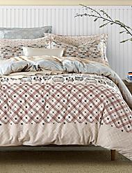 4PC Duvet Cover Set  Fresh Style Cotton Pattern Queen King Size Cartoon Owl
