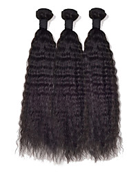 3Pcs/Lot Malaysia Virgin Hair Kinky Straight Weave Human Hair Straight Yaki 12-26inch Cheap Kinky Straight Hair