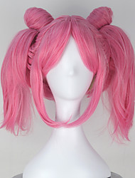 Cosplay Wigs Sailor Moon Sailor Moon Pink Short Anime Cosplay Wigs 32 CM Heat Resistant Fiber Female