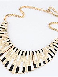 Women's Pendant Necklaces Collar Necklace Shell Alloy Punk Black Black/White Rainbow Jewelry Party Daily Casual 1pc
