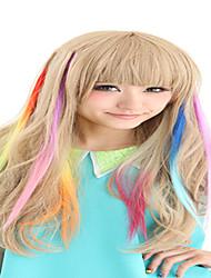 Synthetische kleurrijke clip in hair extensions 1 clips 9color