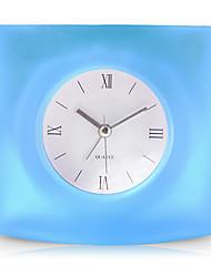 forme mignonne alarme muette créatif horloge (couleur aléatoire)
