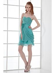 Vestido de Madrinha - Tubinho Coração Curto/Mini Chiffon