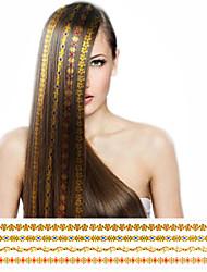 1шт топ мода нового прибытия золотистый бронзируя стикер волос