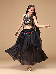 Belly Dance Outfits Women's Performance Chiffon Sequins Dance Costumes