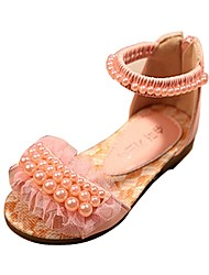 Girls' Shoes Libo New Style Hot Sale Outdoor / Evening / Casual Peep Toe Comfort Sandals Pink / Purple / White