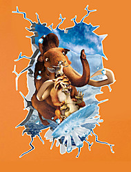 3D Ice Age 4 Continental Drift Children's Bedroom Wall Stickers PVC Fashion Cartoon Wall Decals