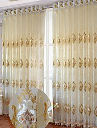 2 шторы европейский Изгибы В соответствии с фото Гостиная Полиэстер Занавески Оттенки