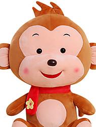 Fubao mono mono mascota del zodiaco del mono de marionetas muñeca juguetes de peluche de seguridad de 40 cm de color caqui