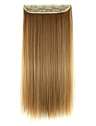 Wig Golden Brown 60CM High Temperature Wire Length Straight Hair Synthetic Hair Extension