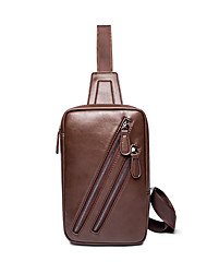 Men-Formal / Sports / Casual / Outdoor / Office & Career / Shopping-Poly urethane-Cross Body Bag-Brown