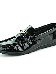 Men's Shoes Casual PU Loafers Black / White