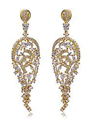 Boucle Forme de Fleur Boucles d'oreille goutte Bijoux 1 paire Mode Mariage / Soirée / Quotidien / Décontracté / N/C Femme Blanc / Cuivré