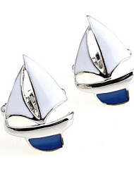 Men's Fashion Sailing Style Silver Alloy French Shirt Cufflinks (1-Pair) Christmas Gifts