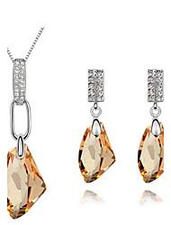 Sieraden set Dames Dagelijks Sieraden Sets Licht Metaal kristal Kettingen / Oorbellen Zilver