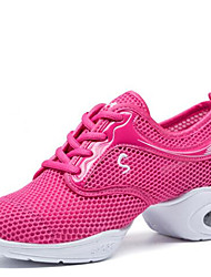Modern Women's Dance Shoes Sneakers Breathable Synthetic Low Heel Black/Fuchsia/White
