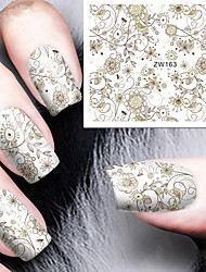 Fashion Printing Pattern Water Transfer Printing Nail Stickers