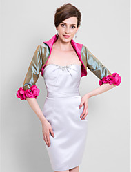Wedding  Wraps Shrugs 3/4-Length Sleeve Taffeta Clover Wedding Party/Evening