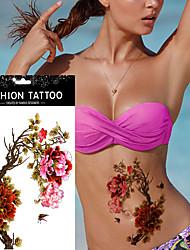 5pcs peônia impermeável braço corpo da arte da borboleta etiqueta do tatuagem temporária