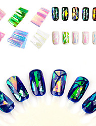 Japan And South Korea Manicure Symphony Of Irregular Broken Glass Mirror Nail Sticker Paper Platinum Aurora Glazed Paper