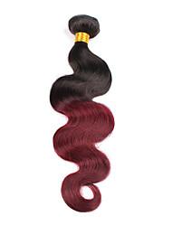 1 Piece Wavy Human Hair Weaves Brazilian Texture Human Hair Weaves Wavy