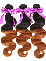 Âmbar Cabelo Brasileiro Onda de Corpo 18 Meses 3 Peças tece cabelo