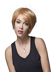 Latest Woman's Natural Short Straight Remy Human Hair Hand Tied -Top Capless Wigs