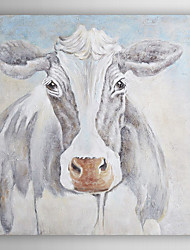 Hand Painted Oil Painting Animal Lovely Cow with Stretched Frame 7 Wall Arts®