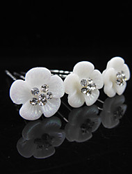 The Bride Dish Hair Flower Hair Pin of U-Shaped Clip Crystal Resin Fashion Hair Hair Pin  6pcs