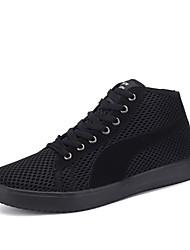 Для женщин Удобная обувь Тюль Весна Лето Осень Повседневные Удобная обувь На плоской подошве Белый Черный Черный/Красный