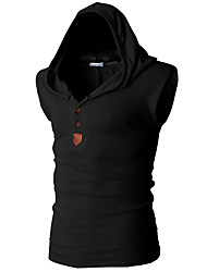 New Brand Stretchy Sleeveless Shirt Casual Fashion Hooded Gym Tank Top Men Outdoor bodybuilding Fitness Gym Clothing
