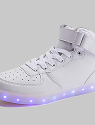 Scarpe Donna-Sneakers alla moda-Tempo libero / Casual-Stivaletto / Chiusa-Piatto-Microfibra-Nero / Bianco