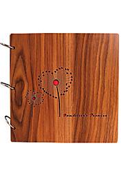 поделок 26 * 26 см 12inch деревянная обложка ручной записках фотоальбом 30pcs черная бумага для семьи / ребенка / любовников / подарки